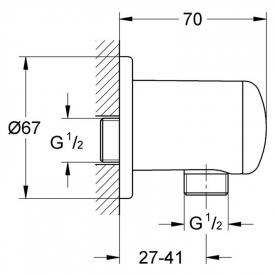 Подключение Relexa Plus для душевого шланга