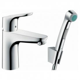 Змішувач Focus 100 з гігієнічним душем