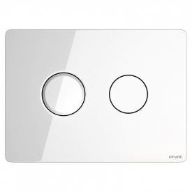 Кнопка Accento Circle біле скло