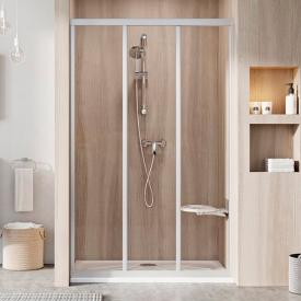 Душові двері ASDP 3-110 Transparent+сатін