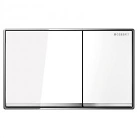 Кнопка Omega 60, белое стекло