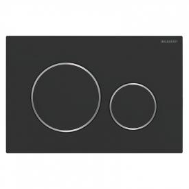 Кнопка Sigma 20 матовий чорний / глянцевий хром