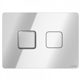Кнопка Accento квадратная, глянцевый хром