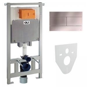 Инсталляционный модуль OLI80 Sanitarblock с кнопкой Slim и звукоизоляцией