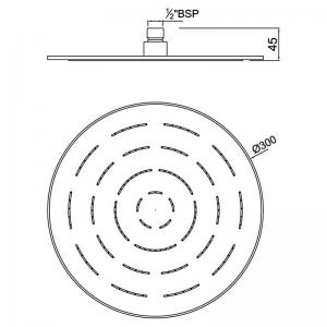 Верхний душ Maze круглый, хром