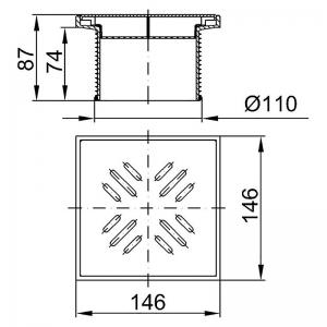 Надставной элемент с решеткой из пластика, белый
