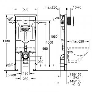 Инсталляционный модуль Rapid SL 3 in 1