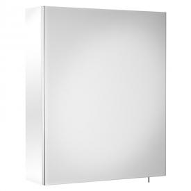 Шкафчик зеркальный Luna 50 белый глянец