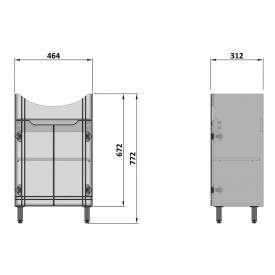 Шкафчик Integra под раковину Cersania 50, белый
