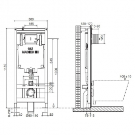 Инсталляционная система Oli 80 Diamante Evo