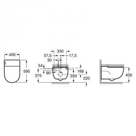 Чаша унитаза Meridian In-Tank