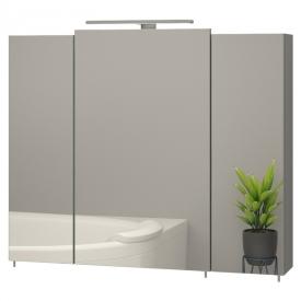 Шкафчик зеркальный Эверест 80 серый