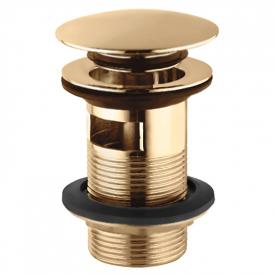 Донный клапан для раковины Click-Clack с переливом, античная бронза