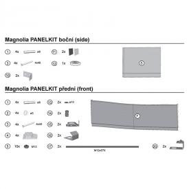 Крепеж для фронтальной панели Magnolia