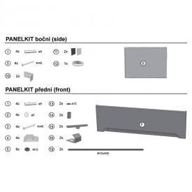 Крепежный набор для фронтальных панелей