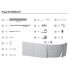 Крепеж для панели Rosa универсальный