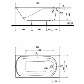 Акриловая ванна Comfort 150x75