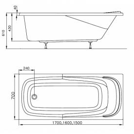 Акриловая ванна Vanda II 170x70