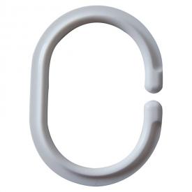 Кольца для шторки 12 штук, овальные, белые